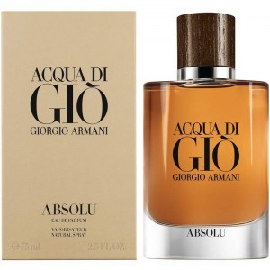 Giorgio Armani Acqua Di Gio Absolu 75ml Men Bakul Parfum