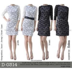 D-0314 brokat dress