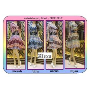 Dress alexa motif batik